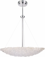 Artcraft AC7521 Genoa Contemporary Chrome LED 18  Hanging Light