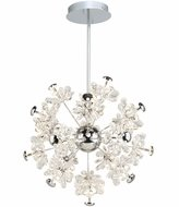 Artcraft AC7530 Blossom Chrome LED Mini Ceiling Chandelier