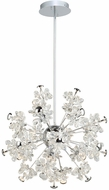 Artcraft AC7531 Blossom Chrome LED Hanging Chandelier