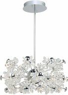 Artcraft AC7532 Blossom Chrome LED Chandelier Light