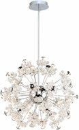 Artcraft AC7533 Blossom Chrome LED Chandelier Lighting