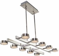 Artcraft AC7540 Terranova Modern Black Pearl Nickel LED Kitchen Island Light