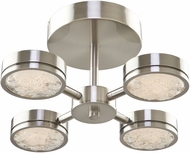 Artcraft AC7544 Terranova Modern Black Pearl Nickel LED Ceiling Lighting