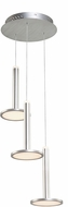 Artcraft AC7553 Aurora Contemporary Brushed Aluminum LED Multi Hanging Pendant Lighting