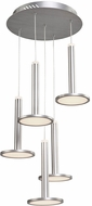 Artcraft AC7556 Aurora Contemporary Brushed Aluminum LED Multi Pendant Hanging Light