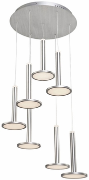 Artcraft AC7557 Aurora Modern Brushed Aluminum LED Multi Hanging Light Fixture