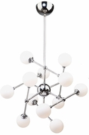 Artcraft AC7562 Luna Contemporary Chrome LED Chandelier Lamp