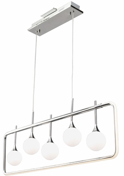 Artcraft AC7565 Luna Contemporary Chrome LED Island Light Fixture