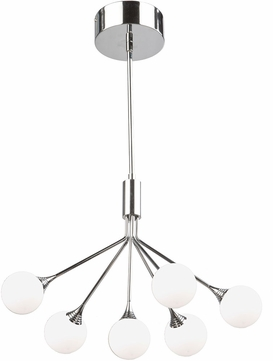 Artcraft AC7566 Luna Modern Chrome LED Mini Chandelier Light