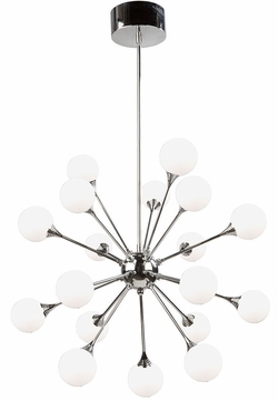 Artcraft AC7568 Luna Modern Chrome LED Ceiling Chandelier