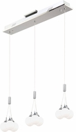 Artcraft AC7569 Luna Contemporary Chrome LED Multi Ceiling Light Pendant