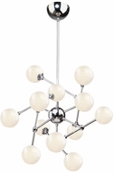 Artcraft AC7572 Odyssey Modern Chrome LED Hanging Chandelier