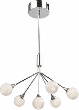 Artcraft AC7576 Odyssey Contemporary Chrome LED Mini Chandelier Light