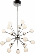Artcraft AC7578 Odyssey Contemporary Chrome LED Chandelier Lighting