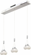 Artcraft AC7579 Odyssey Modern Chrome LED Multi Drop Lighting Fixture