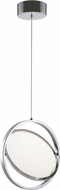 Artcraft AC7600CH Palo Alto Contemporary Chrome LED Pendant Light Fixture
