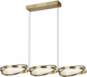Artcraft AC7603BB Palo Alto Modern Brushed Bronze LED Kitchen Island Light