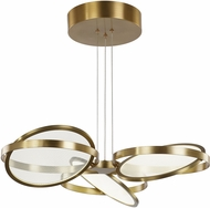 Artcraft AC7604BB Palo Alto Modern Brushed Bronze LED Chandelier Light