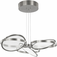 Artcraft AC7604CH Palo Alto Contemporary Chrome LED Chandelier Lighting