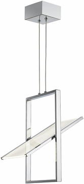 Artcraft AC7611CH Palo Alto Contemporary Chrome LED Mini Hanging Pendant Lighting