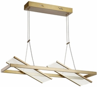 Artcraft AC7612BB Palo Alto Modern Brushed Bronze LED Kitchen Island Light Fixture