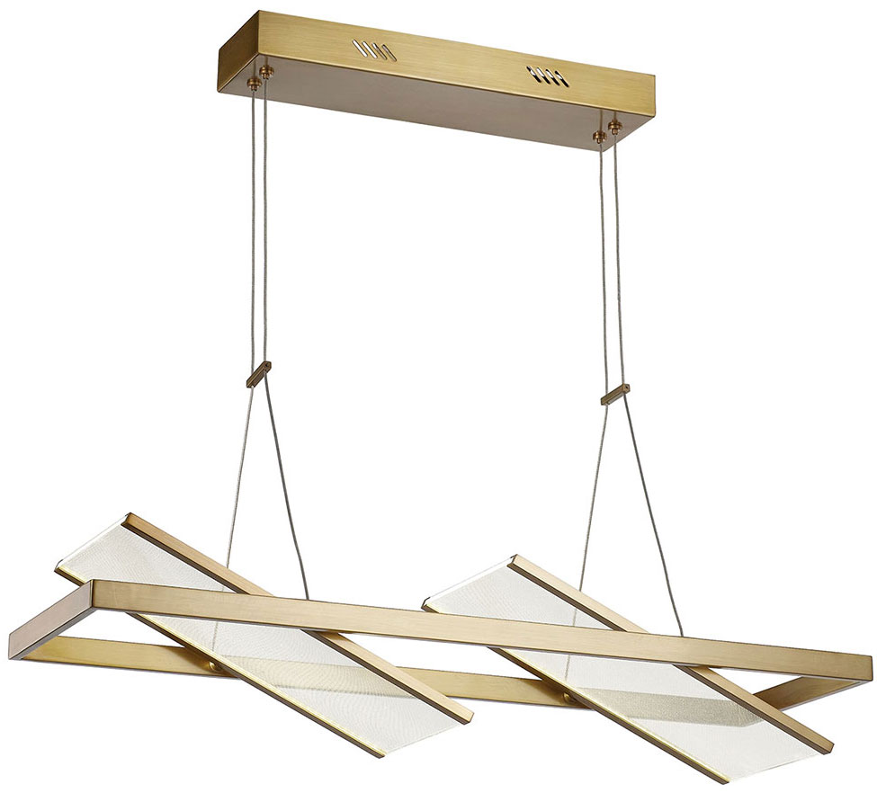 Artcraft Ac7612bb Palo Alto Modern Brushed Bronze Led Kitchen Island Light Fixture Art