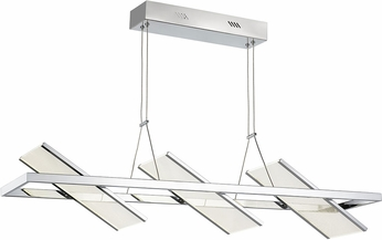 Artcraft AC7613CH Palo Alto Contemporary Chrome LED Kitchen Island Light