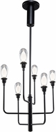 Artcraft AC7656BK Bimini Black LED Exterior Mini Chandelier Light