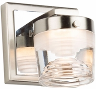 Artcraft AC7661CB Newbury Contemporary Brushed and Polished Nickel LED Wall Lighting Fixture