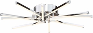 Artcraft AC7980 Shooting Star Contemporary Chrome LED Flush Mount Lighting
