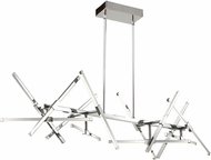 Artcraft AC7987 Shooting Star Contemporary Chrome LED Kitchen Island Lighting
