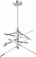 Artcraft AC7988 Shooting Star Modern Chrome LED Ceiling Chandelier