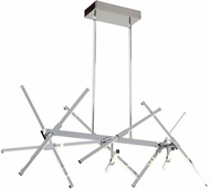 Artcraft AC7989 Shooting Star Contemporary Chrome LED Kitchen Island Light