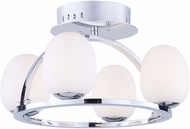 Artcraft AC7994 Meridian Modern Chrome LED Overhead Lighting