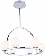 Artcraft AC7996 Meridian Contemporary Chrome LED Mini Hanging Chandelier