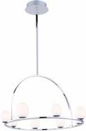 Artcraft AC7998 Meridian Modern Chrome LED Chandelier Light