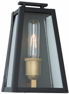Artcraft AC8106BK Charlestown Black and Vintage Gold LED Exterior 9  Wall Light Sconce