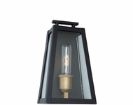 Artcraft AC8107BK Charlestown Black and Vintage Gold LED Outdoor 10  Wall Sconce Light