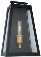 Artcraft AC8108BK Charlestown Black and Vintage Gold LED Exterior 14  Wall Sconce