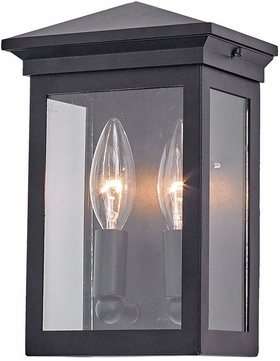 Artcraft AC8160BK Gable Black Outdoor Wall Mounted Lamp