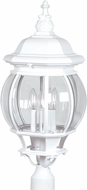 Artcraft AC8493WH Classico White Exterior Post Lighting Fixture