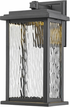 Artcraft AC9070BK Sussex Black LED Outdoor Sconce Lighting
