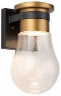 Artcraft AC9100VB Clareville Black and Harvest Brass LED Outdoor Sconce Lighting