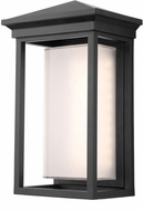 Artcraft AC9131BK Overbrook Modern Black LED Exterior 13  Wall Sconce Lighting