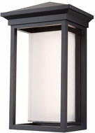 Artcraft AC9132BK Overbrook Modern Black LED Exterior 17  Wall Light Sconce