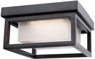 Artcraft AC9136BK Overbrook Black LED Exterior Flush Mount Lighting Fixture