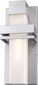 Artcraft AC9150SL Camden Modern Silver LED Outdoor Wall Light Sconce