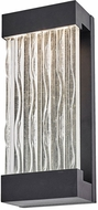Artcraft AC9162BK Watercrest Contemporary Black LED Exterior Wall Sconce Light