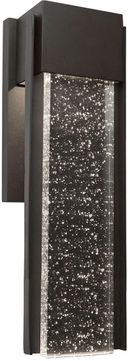 Artcraft AC9167BK Cortland Contemporary Black LED Outdoor 16  Sconce Lighting