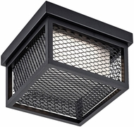 Artcraft AC9176BK Innovation Black LED Exterior Flush Ceiling Light Fixture